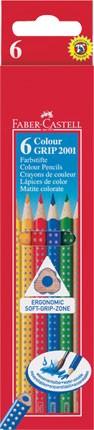 Pastelky Faber-Castell GRIP - 6 kusů