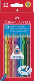 Pastelky Faber-Castell GRIP - 12 kusů