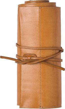 Kožený rolovací penál Graf von Faber-Castell + 36 pastelek Polychromos