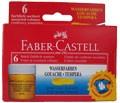 Temperové barvy Faber-Castell 6 ks