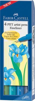 Popisovače Faber-Castell PITT Artist Pen Fineliner 4 ks (teplé odstíny)