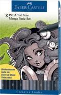 Popisovače Faber-Castell PITT Artist Pen Manga Basic Set 8 ks