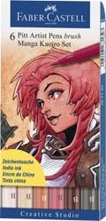 Popisovače Faber-Castell PITT Artist Pen Manga Kaoiro Set 6 ks