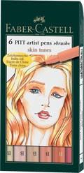 Popisovače Faber-Castell PITT Artist Pen Brush 6 ks, Skin Tones