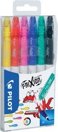 Sada gumovacích fixů Pilot FriXion Colors, 6 ks
