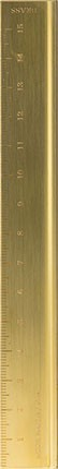 Kovové pravítko Midori Traveler's Notebook Brass 15 cm