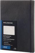 x-do vyprodání-Diář Moleskine 2017, měsíční černý (XL), MĚKKÁ vazba