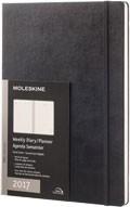 Diář Moleskine 2017, týdenní vertikální černý (A4), TVRDÁ vazba