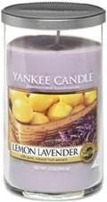 Svíčka Yankee Candle válec střední Lemon Lavender