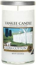 Svíčka Yankee Candle válec střední Clean Cotton