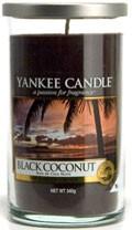 Svíčka Yankee Candle válec střední Black Coconut