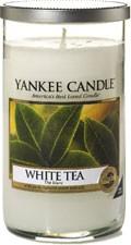 Svíčka Yankee Candle válec střední White Tea